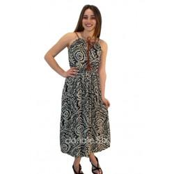 Μακρύ Φόρεμα Βαμβακερό με Τιράντα