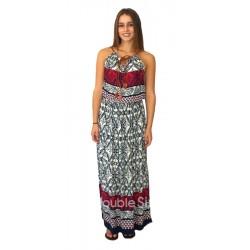 Βαμβακερό φόρεμα με τιράντα