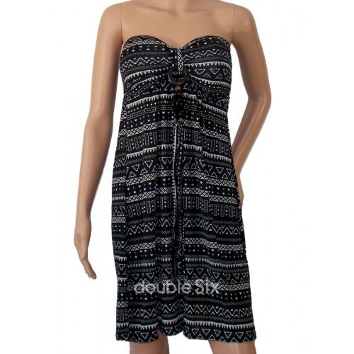 6e4caa86ee47 Κοντό Φόρεμα Ζέρσευ Στράπλες