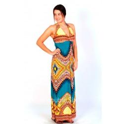 Μακρύ Φόρεμα Ζέρσεϋ Που Δένει στο Λαιμό