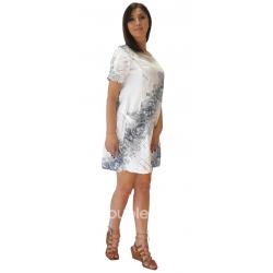 Φόρεμα κοντό βαμβακερό με μανίκια