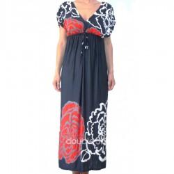Μακρυ Φορεμα με μανικια xl