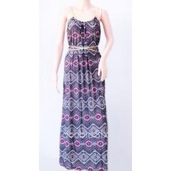 Μακρύ Φόρεμα Ζέρσεϋ Με Τιράντες
